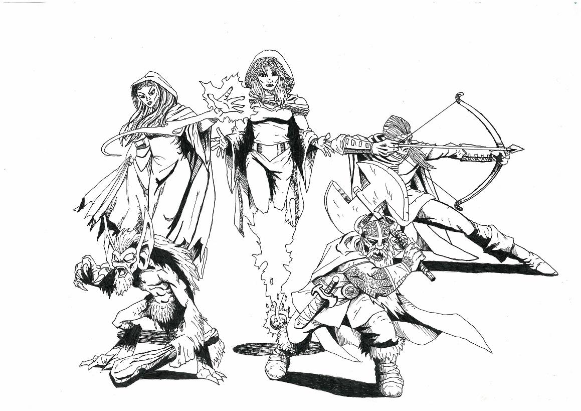 Band of Fantasy Heroes by Zaara