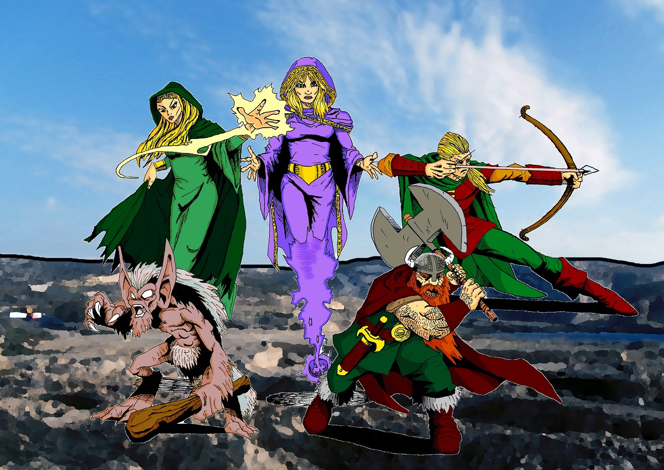 Fantasy Heroes Color by Zaara