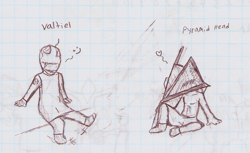 Pyramid head and Valtiel <33 by ZaneDragon102