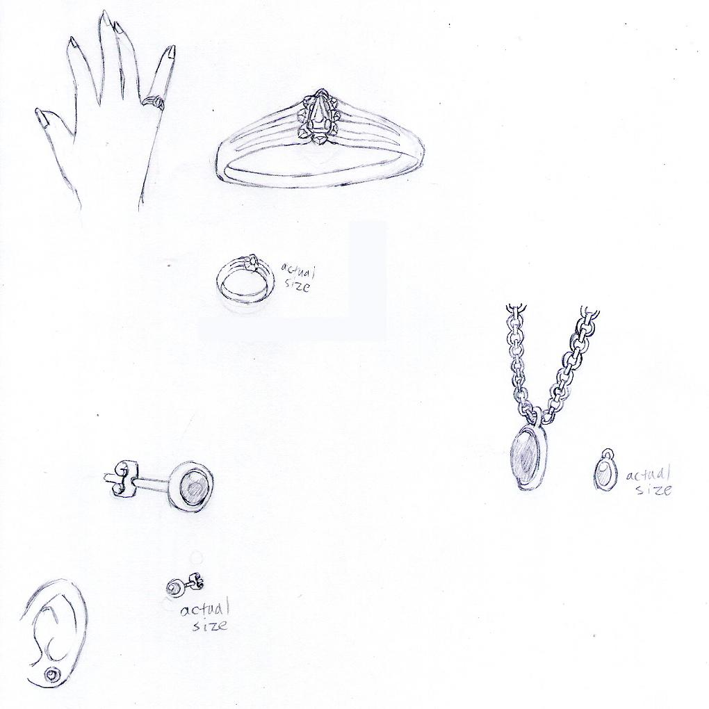 Jewelry Sketches by ZeroMidnight