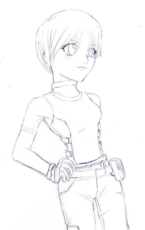Rebecca Chambers_request for DaiYoSesshomaru by ZeroMidnight
