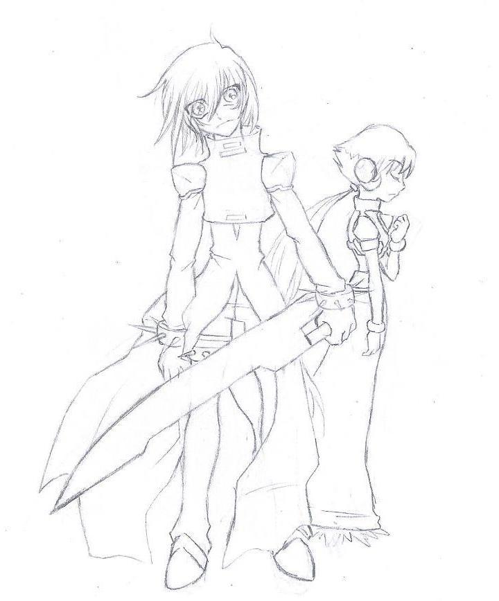 Dark X and Katana by ZeroMidnight