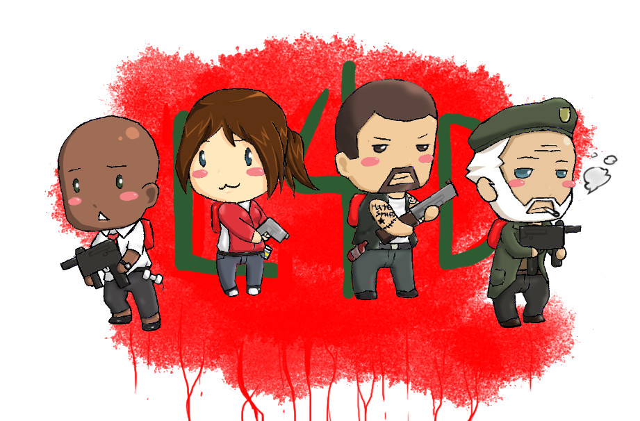 Survivor Chibis -colored by ZeroMidnight