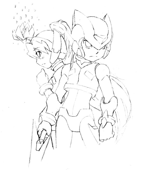Zero and Ciel sketch by ZeroMidnight