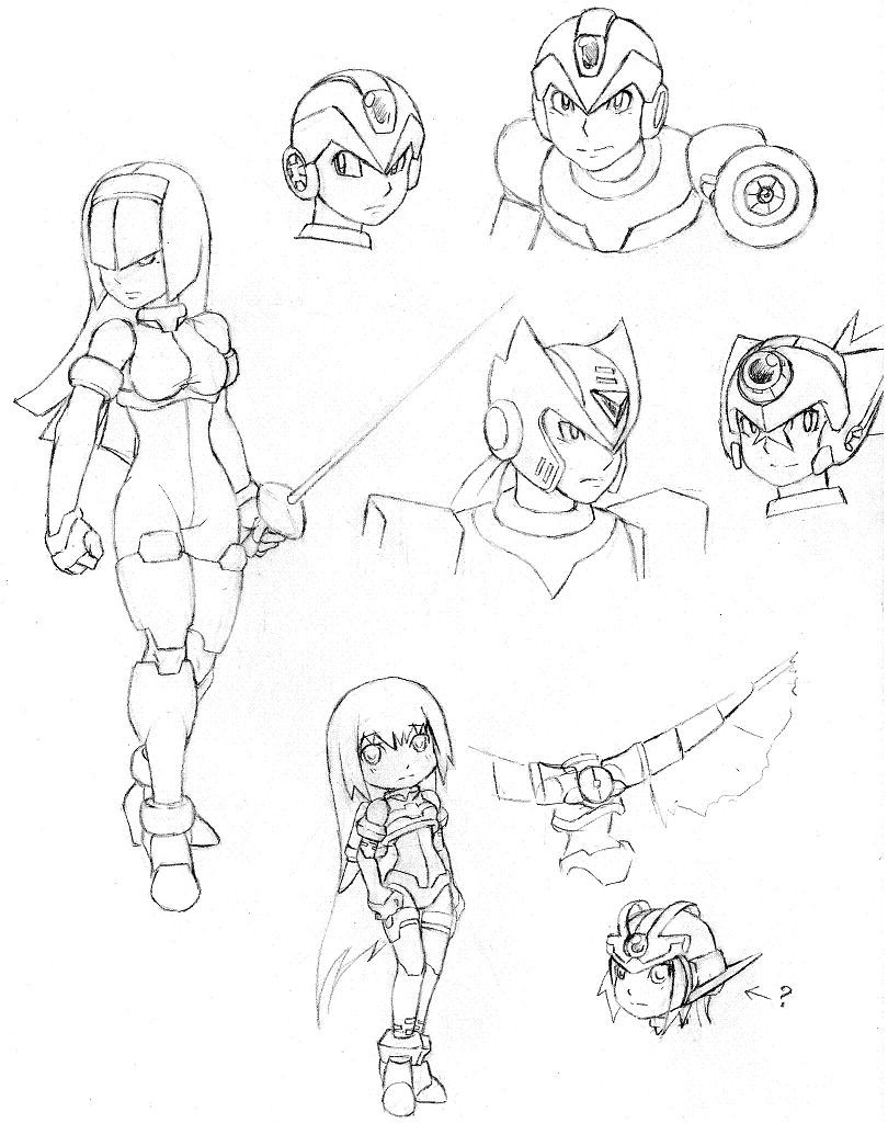 Some 'bot Sketches by ZeroMidnight