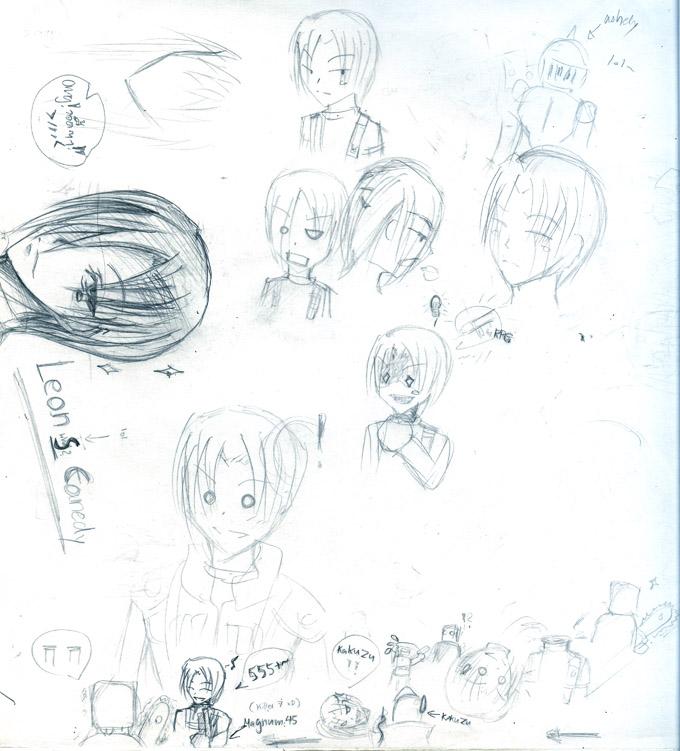 Leon doodle by ZiaReN