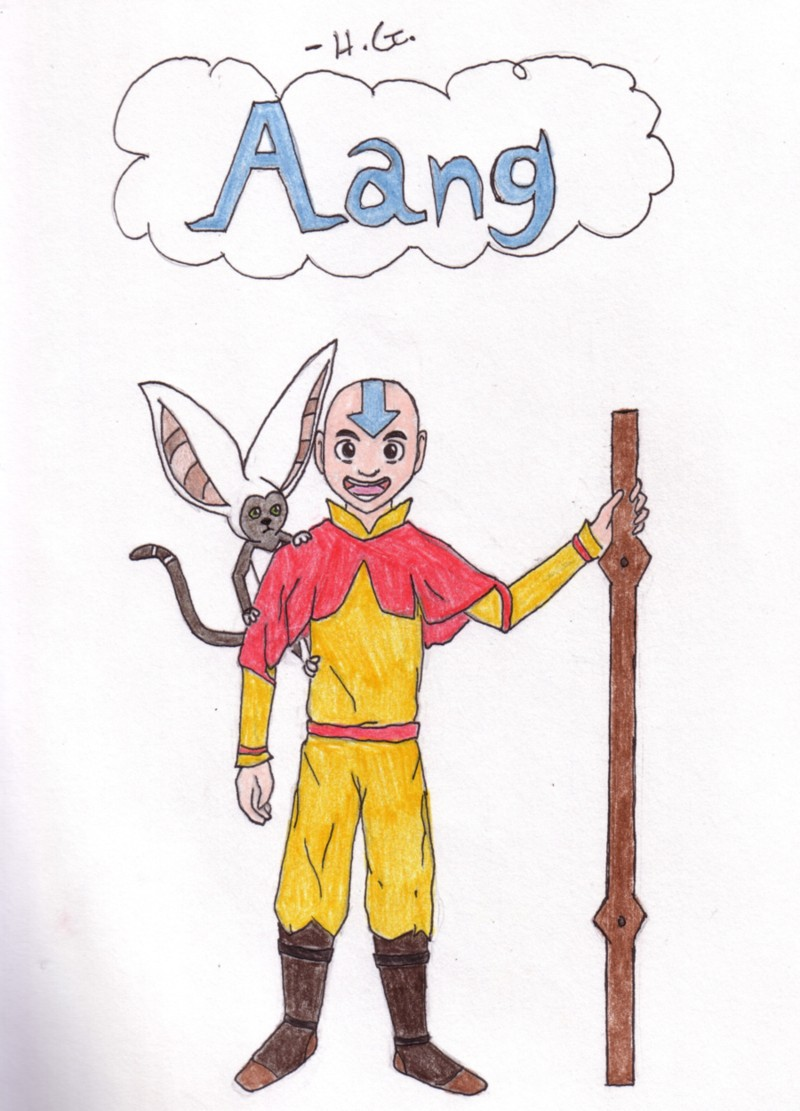 Aang and Momo!!! - for ILoveAang by ZoidianGirl_DSZ