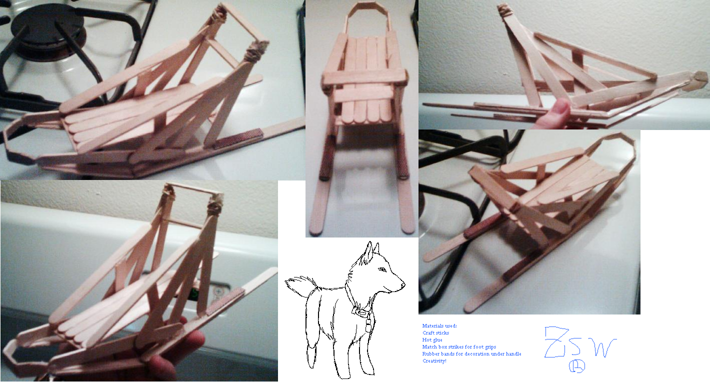 Sled Dog Craft http://www.fanart-central.net/pictures/user/Zonadow/782259/Dog-Sled