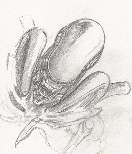 Alien sketch by zakuman