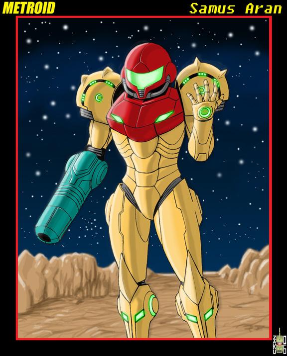 Metroid Classic Samus by zakuman