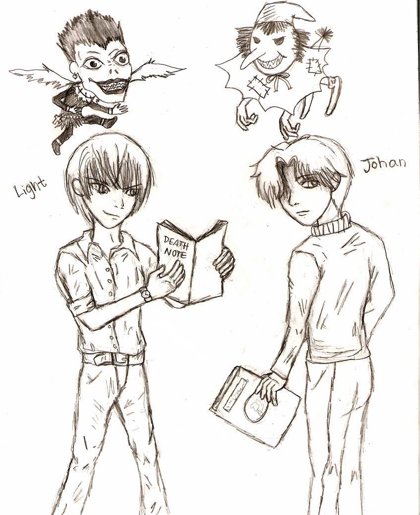 Death Note vs. Monster by zeldafan92