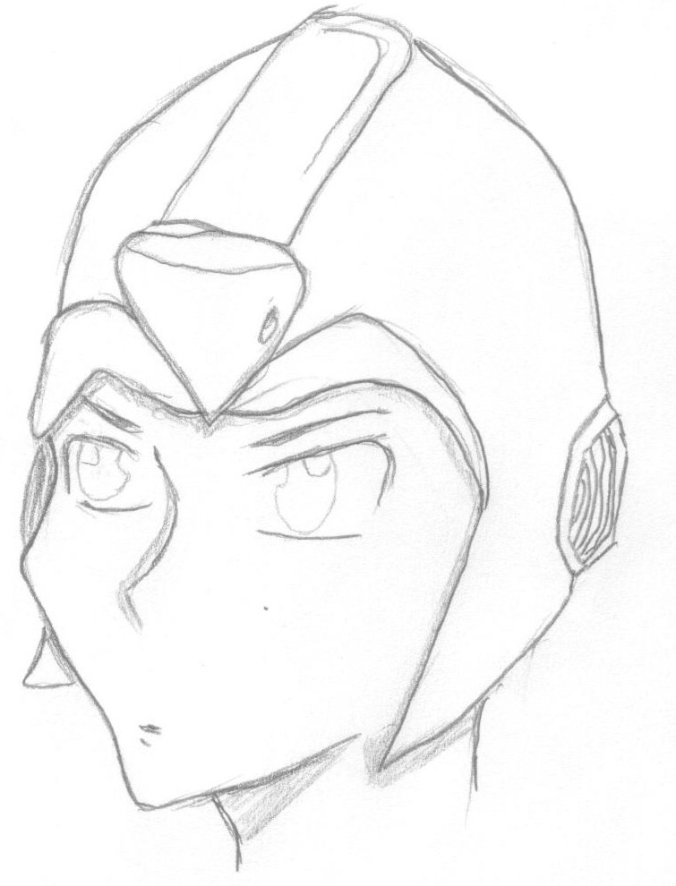 megaman x (no color) by zero04