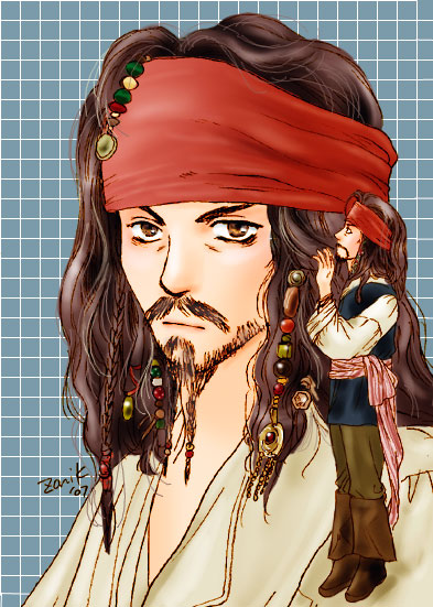 Captain Jack Sparrow with little jack by zonikuo
