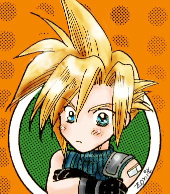 chibi cloud strife by zonikuo