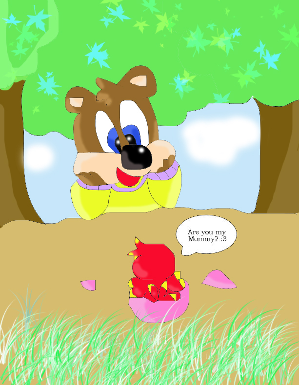 "Banjo: ""When Kazooie and I first met! :3"" by zoomy"